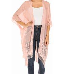 kimono encaje rosa i-d