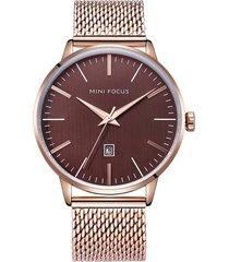 reloj análogo f0115gs-6 hombre café