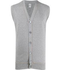 eleventy v-neck sleeveless cardigan - grey