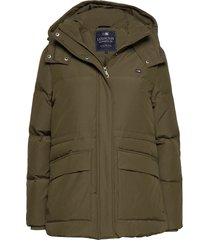 emma down jacket parka lange jas jas groen lexington clothing