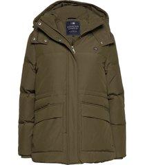 emma down jacket parka lange jas jas groen lexington clothing