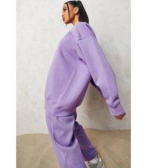 basic oversized sweater, purple