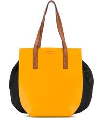 marni bolsa tiracolo color block - amarelo
