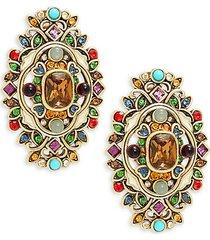 thoughtful treasure multicolor glass bead statement earrings