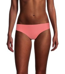 commando women's butter thong panty - coral - size l