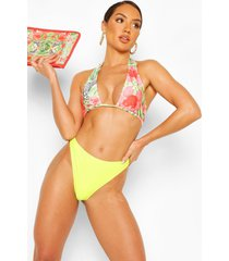 abstract animal triangle high waist bikini