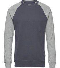 cotton rib stelt contrast sweat-shirt tröja grå mads nørgaard