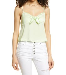 bp. bow detail tank top, size x-small in green limecream at nordstrom