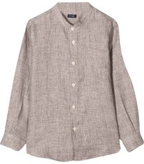 brown shirt with chest pocket