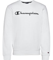 crewneck sweatshirt sweat-shirt tröja vit champion