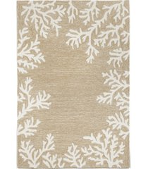 "liora manne' capri 1620 coral border 3'6"" x 5'6"" indoor/outdoor area rug"