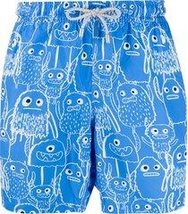 bluemint arthus monster print swim shorts