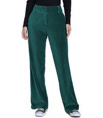 pantalón io  liso verde - calce regular