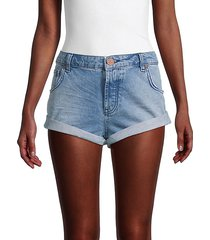 bandits rolled-cuff denim shorts