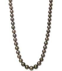 """belle de mer cultured tahitian pearl (8-11mm) strand 17.5"""" necklace in 14k white gold"""