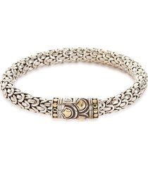 'legends naga' silver gold medium bracelet