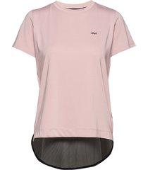 mesh back tee t-shirts & tops short-sleeved rosa röhnisch