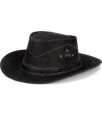 chapéu fourcountry australiano preto furado