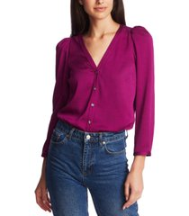 1.state 3/4-sleeve puffed-shoulder top