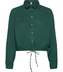 blouse madagaskar blus långärmad grön lindex