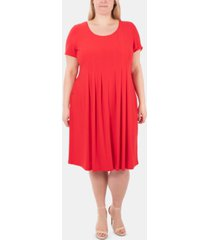 ny collection plus size pleated dress