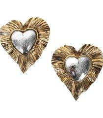 héritage radiating heart earrings