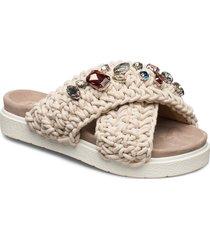 slipper woven st s shoes summer shoes flat sandals beige inuikii
