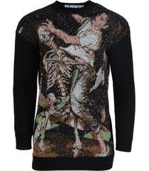 pascal jacquard crewneck sweater