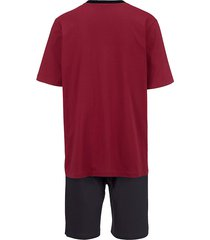 pyjamas med korta byxor babista bordeaux::svart