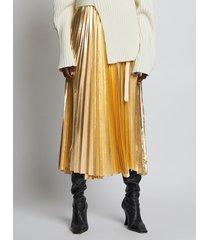 proenza schouler pleated metallic poplin skirt 00604 gold 4