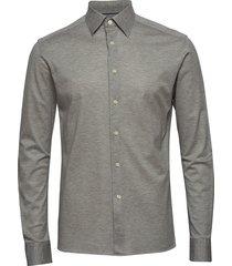 polo shirt - long sleeved overhemd business grijs eton