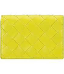 bottega veneta intrecciato card case - green