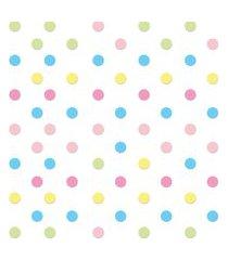 adesivo de parede bolinhas coloridas candy colors 144un