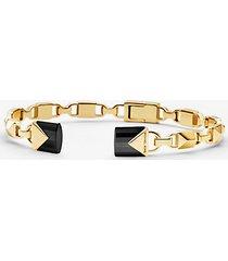 bracciale rigido aperto in argento sterling placcato oro 14k