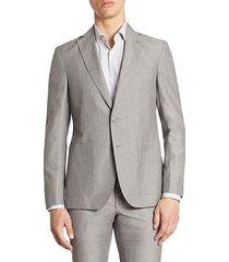 modern wool & linen suit jacket