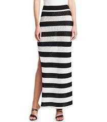 margaret stripe knit maxi skirt