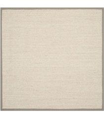 safavieh natural fiber marble and khaki 6' x 6' sisal weave square area rug