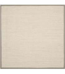 safavieh natural fiber marble and khaki 6' x 6' sisal weave square area rug