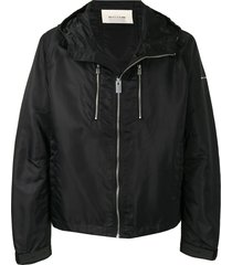 1017 alyx 9sm satin-shell hooded jacket - black