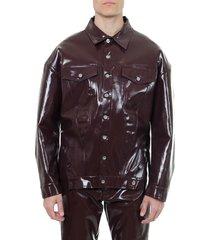 diesel burgundy denim vinyl jacket