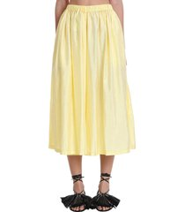 jil sander packway skirt in yellow polyester