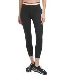 dkny sport women's multi-stripe elastic leggings