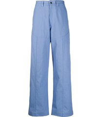 jacquemus oversized trousers - blue
