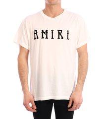 amiri t-shirt logo white