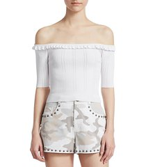 amalia off-the-shoulder top