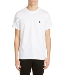 men's burberry parker embroidered logo t-shirt, size medium - white
