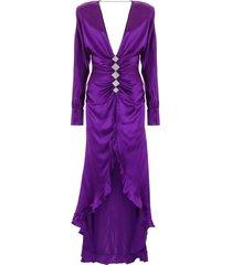 alessandra rich ruffled dress