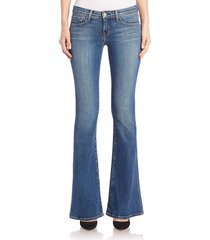 l'agence women's elysee low-rise flared jeans - indigo - size 29 (6-8)