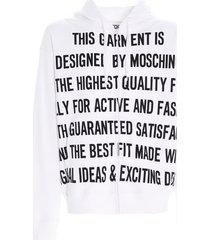 moschino slogan group sweatshirt