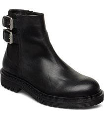 least w shoes boots ankle boots ankle boots flat heel svart sneaky steve